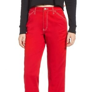 Red Carpenter style Dickies
